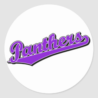 Panthers in Purple Stickers