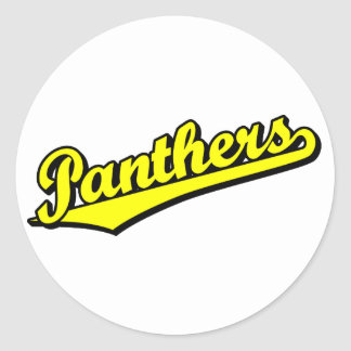 Panthers in Yellow Stickers