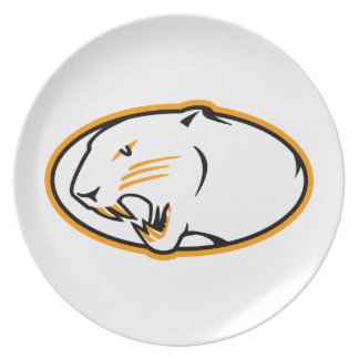 Panthers Logo Melamine Plate