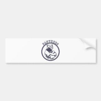 Panthers mascot bumper sticker