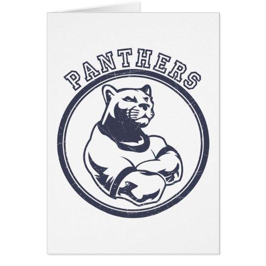 Panthers mascot card