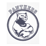 Panthers mascot full color flyer