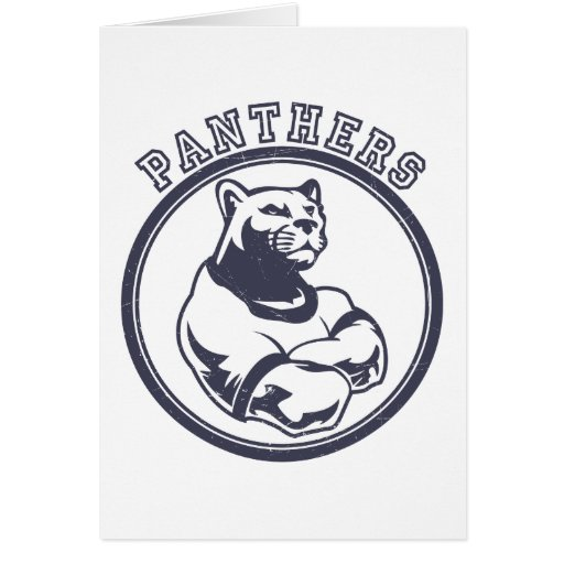 Panthers mascot greeting card