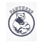 Panthers mascot letterhead design