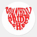 panthers round sticker