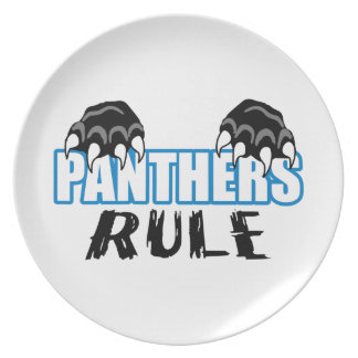 Panthers Rule Dinner Plate