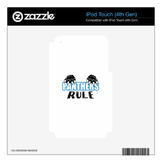Panthers Rule Skins For iPod Touch 4G