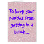 Panties In A Bunch Cards