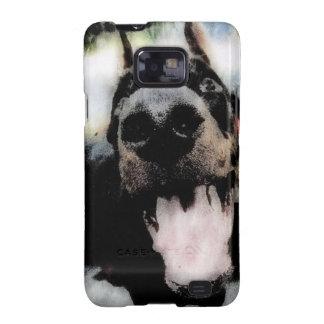 Panting Dog Grunge Samsung Galaxy S Case