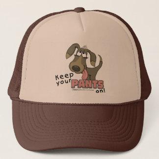 Panting Dog-Keep Pants On Trucker Hat