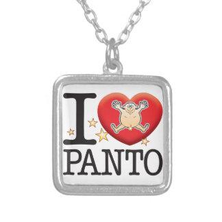 Panto Love Man Square Pendant Necklace