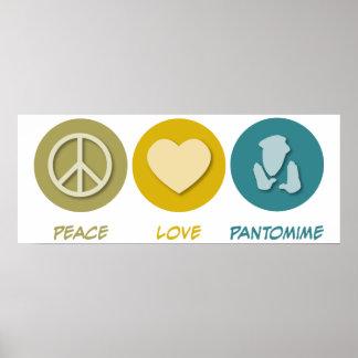 Pantomima del amor de la paz impresiones