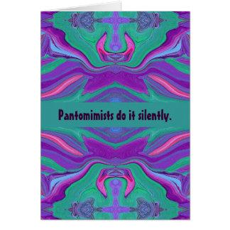 pantomime humor card