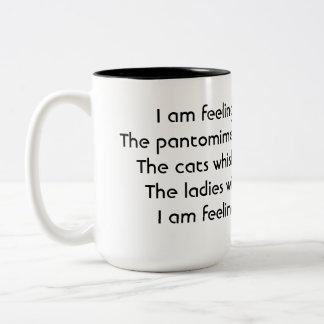Pantomime. Poem. Black White Mugs