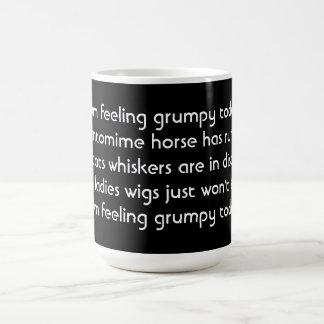 Pantomime. Poem. Black White Mug