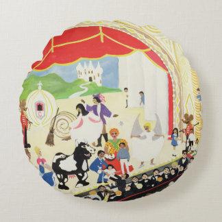 Pantomime Round Pillow