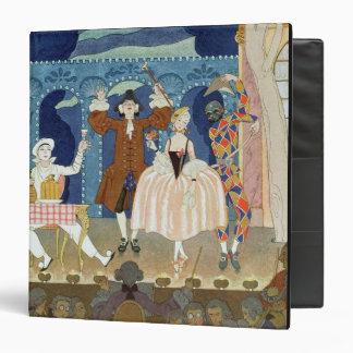 Pantomime Stage, illustration for 'Fetes Galantes' Binder
