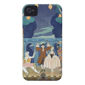 Pantomime Stage, illustration for 'Fetes Galantes' iPhone 4 Case