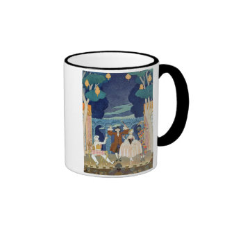 Pantomime Stage, illustration for 'Fetes Galantes' Coffee Mug