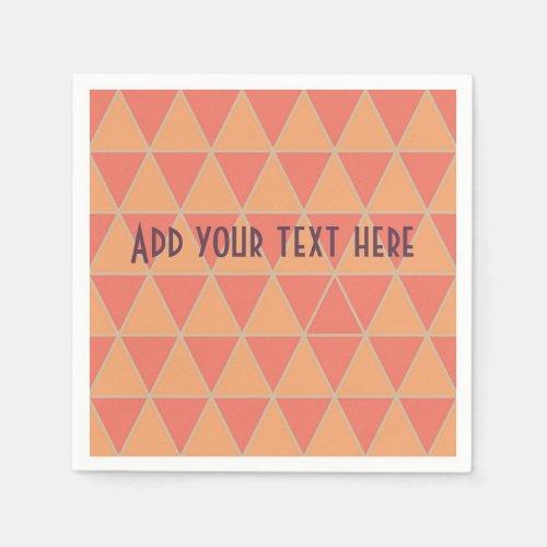 Pantone 2019 colour design in triangles napkin