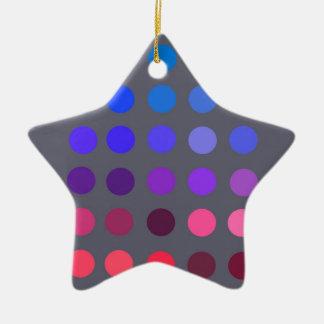 Pantone 2 adorno de cerámica en forma de estrella