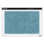 "PANTONE Aquamarine baby blue with faux Glitter 17"" Laptop Decal"