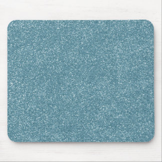 PANTONE Aquamarine baby blue with faux Glitter Mouse Pad