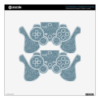 PANTONE Aquamarine baby blue with faux Glitter Decal For PS3 Controller