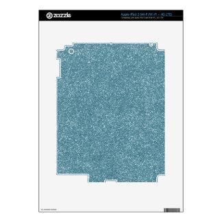 PANTONE Aquamarine baby blue with faux Glitter Skin For iPad 3