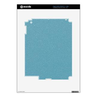 PANTONE Aquamarine babyblue with faux fine Glitter Skins For The iPad 2