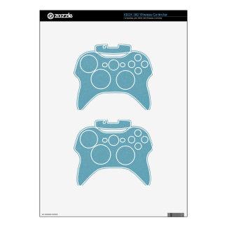 PANTONE Aquamarine babyblue with faux fine Glitter Xbox 360 Controller Skins