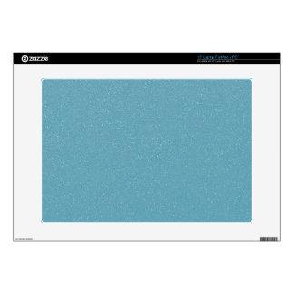 PANTONE Aquamarine babyblue with faux fine Glitter Laptop Decals