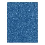 PANTONE Classic Blue with faux Glitter Postcard