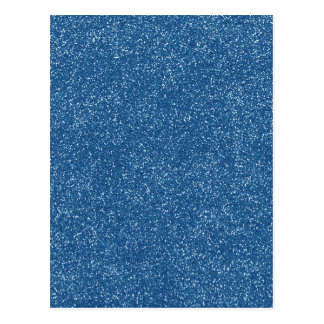 PANTONE Classic Blue with faux Glitter Postcard
