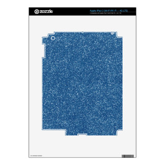 PANTONE Classic Blue with faux Glitter Skins For iPad 3
