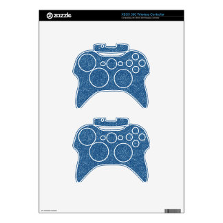 PANTONE Classic Blue with faux Glitter Xbox 360 Controller Decal
