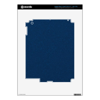 PANTONE Classic Blue with fine faux Glitter iPad 3 Decal