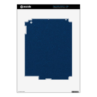 PANTONE Classic Blue with fine faux Glitter Skins For iPad 2