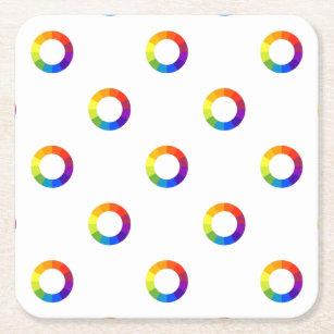 Color Wheel Drink Beverage Coasters Zazzle