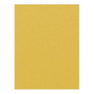 PANTONE Custard YELLOW with fine faux Glitter Postcard