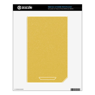 PANTONE Custard YELLOW with fine faux Glitter Skin For NOOK Color
