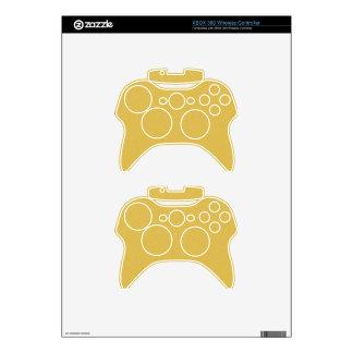 PANTONE Custard YELLOW with fine faux Glitter Xbox 360 Controller Skins