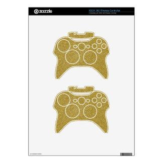 PANTONE Custard YELLOW with fine Glitter Xbox 360 Controller Skins