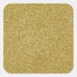 PANTONE Custard YELLOW with fine Glitter Square Sticker