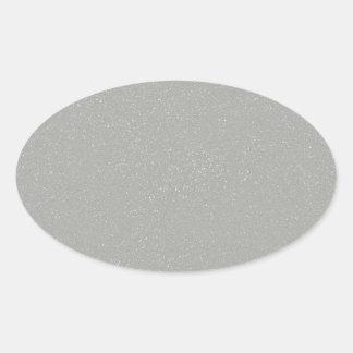 PANTONE Glacier Gray with faux fine Glitter Oval Sticker