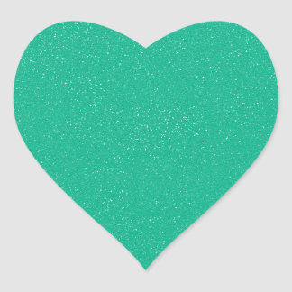 PANTONE Lucite Green with faux fine Glitter Heart Sticker