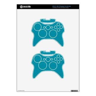 PANTONE Scuba Blue with fine faux Glitter Xbox 360 Controller Skin
