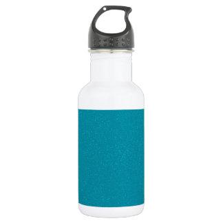 PANTONE Scuba Blue with fine faux Glitter Stainless Steel Water Bottle