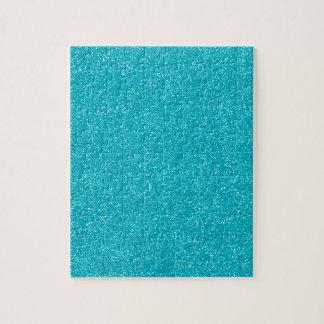 PANTONE Scuba Blue with fine Glitter Jigsaw Puzzle