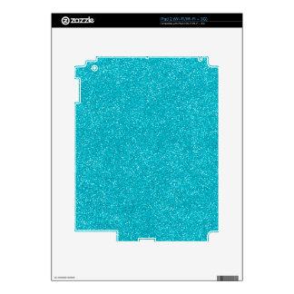 PANTONE Scuba Blue with fine Glitter iPad 2 Skin